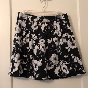 WHBM floral a-line skirt